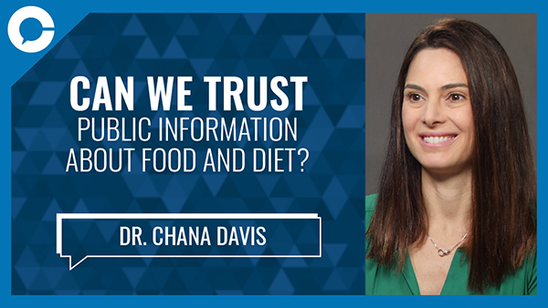 Stu sits down with Dr. Chana Davis for a conversation about what kinds of health and diet information you should (or shouldn`t) believe.