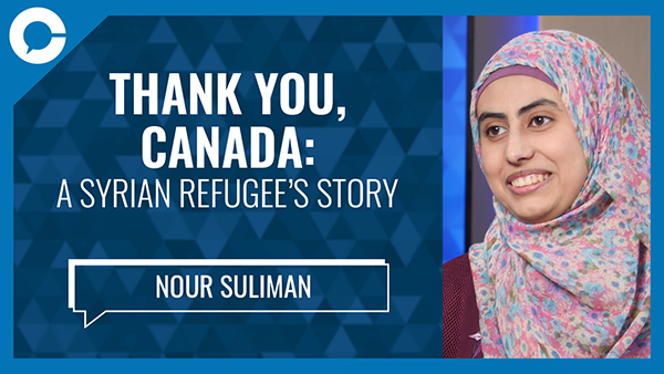 Stu sits down with Nour Suliman for a conversation about her journey from Syria as a refugee to being a Canadian citizen.
